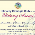 Kilmaley Camogie Victory Social
