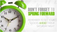 Spring-Forward Clocks Change