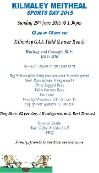 Kilmaley Meitheal Sports Day 2015